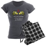 Are you looking at my bees Women's Charcoal Pajama
