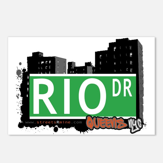 RIO DRIVE, QUEENS, NYC Postcards (Package of 8)