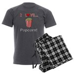 I Love Popcorn Men's Charcoal Pajamas