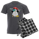 Pirate Penguin Men's Charcoal Pajamas