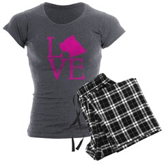 Cane Corso Love Women's Charcoal Pajamas