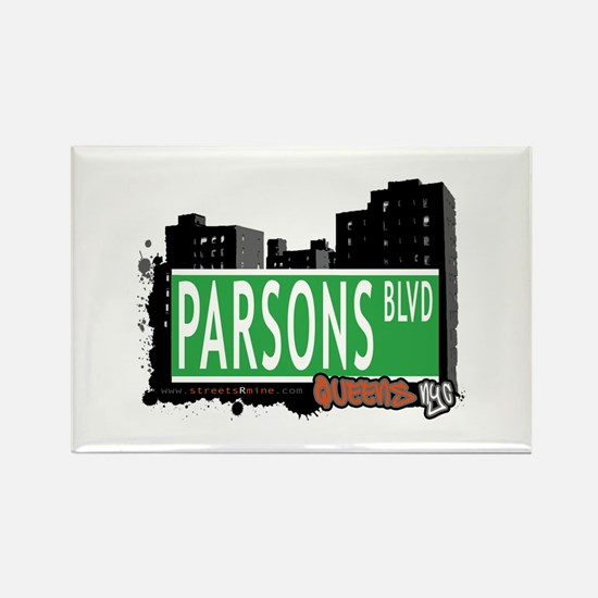PARSONS BOULEVARD, QUEENS, NYC Rectangle Magnet