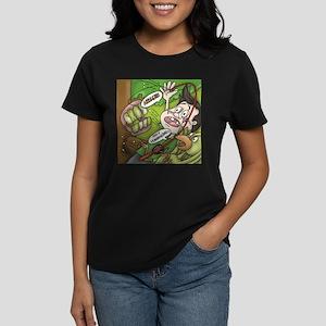 Women's Pj And Split Pea V-Neck Dark T-Shirt