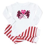 Pink Racing Flags Baby Pajamas