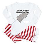 Six In A Row - Makes'em GO! - Baby Pajamas