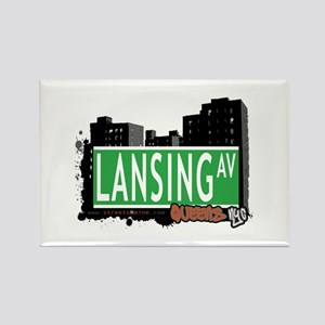 LANSING AVENUE, QUEENS, NYC Rectangle Magnet