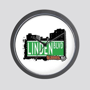 LINDEN BOULEVARD, QUEENS, NYC Wall Clock