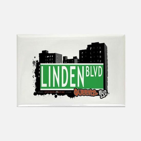 LINDEN BOULEVARD, QUEENS, NYC Rectangle Magnet