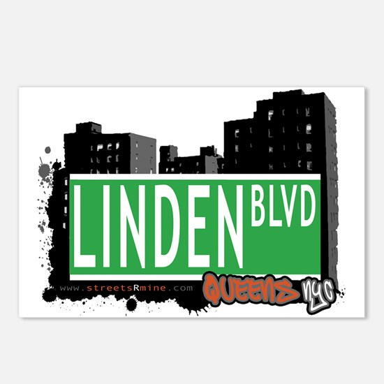 LINDEN BOULEVARD, QUEENS, NYC Postcards (Package o