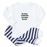 mymommy_is_faster_than_yours Baby Pajamas