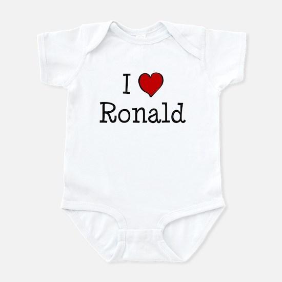 I love Ronald Infant Bodysuit