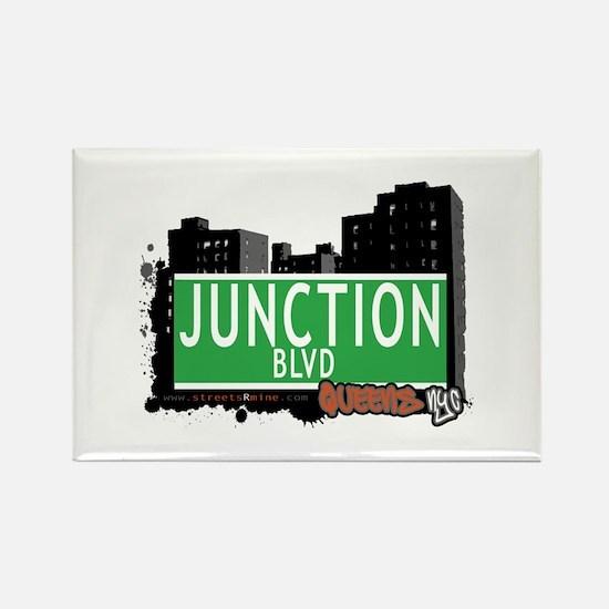 JUNCTION BOULEVARD, QUEENS, NYC Rectangle Magnet