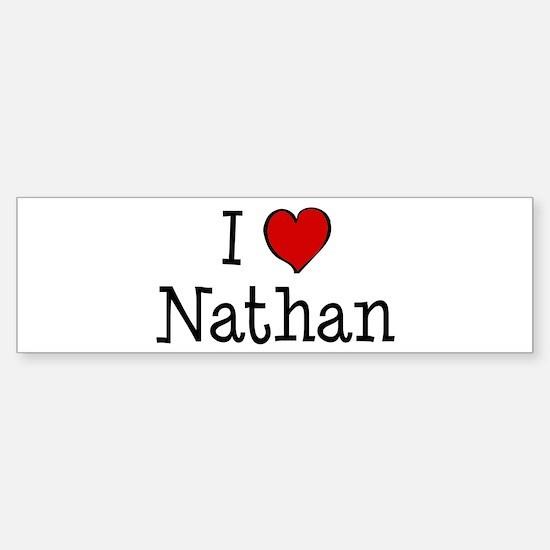 I love Nathan Bumper Bumper Bumper Sticker