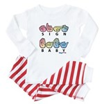 Captioned SIGN BABY Baby Pajamas
