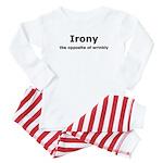 Irony - The Opposite Of Wrinkly Humor Baby Pajamas
