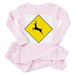 Deer Crossing Sign - Toddler Pink Pajamas