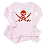 Pirates Red Toddler Pink Pajamas