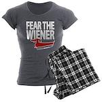 Fear the Wiener Women's Charcoal Pajamas