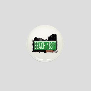 BEACH 183 STREET, QUEENS, NYC Mini Button
