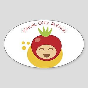 Halal Only Please  Sticker