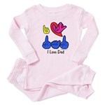 I-L-Y Dad Baby Pajamas