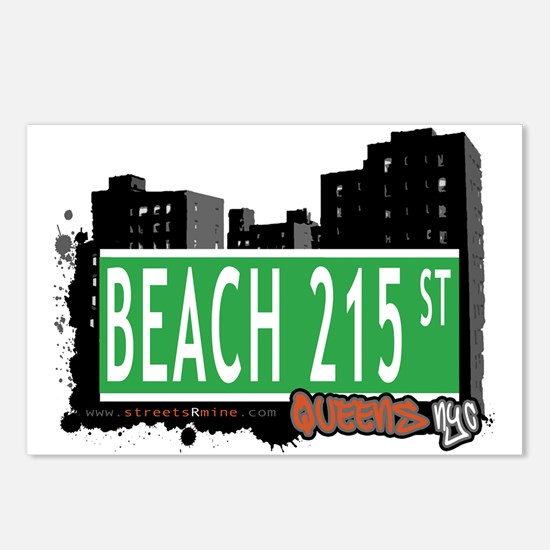 BEACH 215 STREET, QUEENS, NYC Postcards (Package o