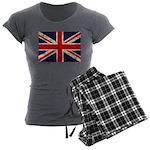 British Flag Women's Charcoal Pajamas