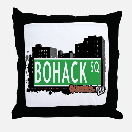 BOHACK SQUARE, QUEENS, NYC Throw Pillow