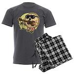 Hawaiian Pizza Men's Charcoal Pajamas