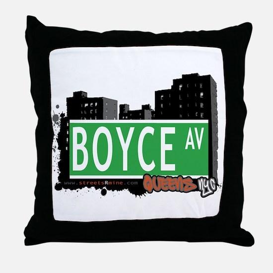 BOYCE AVENUE, QUEENS, NYC Throw Pillow