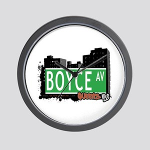 BOYCE AVENUE, QUEENS, NYC Wall Clock