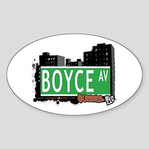 BOYCE AVENUE, QUEENS, NYC Oval Sticker