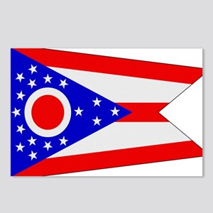 Beloved Ohio Flag Modern Styl Postcards (Package o