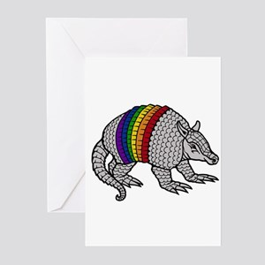 Gay texas greeting cards cafepress texas rainbow armadillo greeting cards package of m4hsunfo