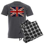 British Flag Men's Charcoal Pajamas