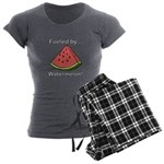 Fueled by Watermelon Women's Charcoal Pajamas