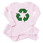 Recycle Symbol Baby Pajamas