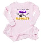 Your Pants Say Yoga Baby Pajamas