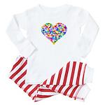 Rainbow Heart of Hearts Baby Pajamas
