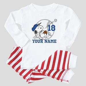 Snoopy Baseball - Personalized Baby Pajamas
