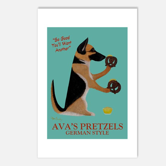 Ava's Pretzels Postcards (Package of 8)