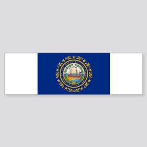 Beloved New Hampshire Flag Mo Sticker (Bumper 10 p