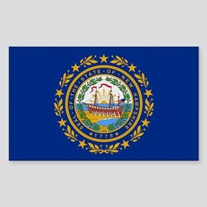 Beloved New Hampshire Flag Mo Rectangle Sticker
