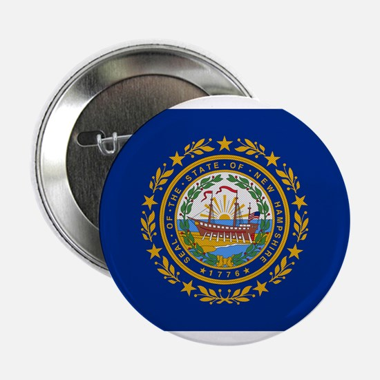 """Beloved New Hampshire Flag Mo 2.25"""" Button"""