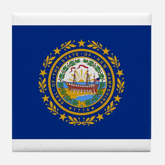 Beloved New Hampshire Flag Mo Tile Coaster