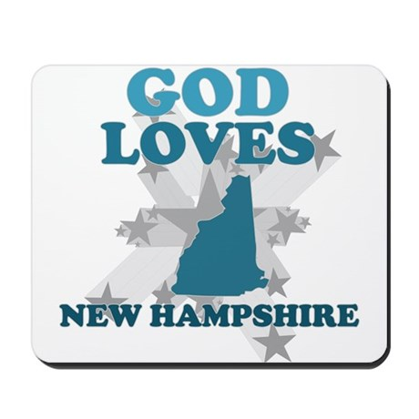 God Loves New Hampshire Mousepad