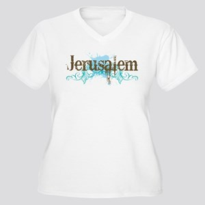 Jerusalem Women's Plus Size V-Neck T-Shirt