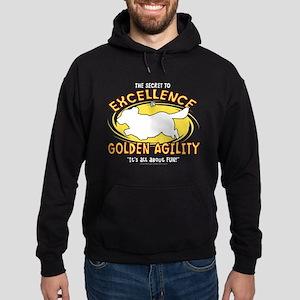 Secret Golden Retriever Agility Hoodie (dark)
