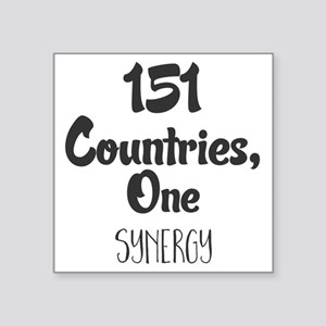 151 Countries, One Synergy. Sticker