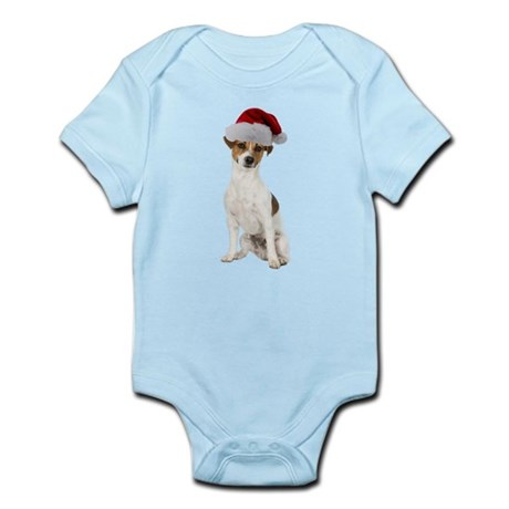 Jack Russell Terrier Xmas Infant Bodysuit
